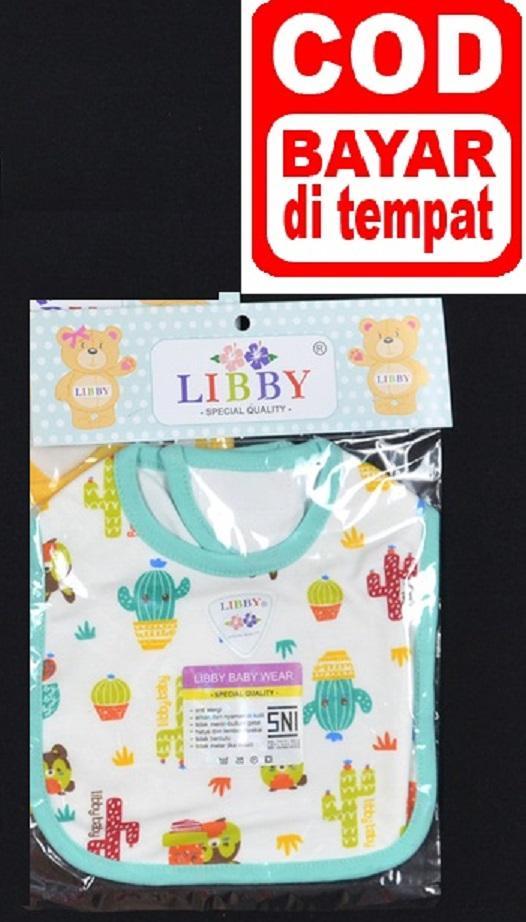 Paket Libby Slaber Bayi Motif - Libby Tatakan Iler bayi - Baby Bib merk Libby