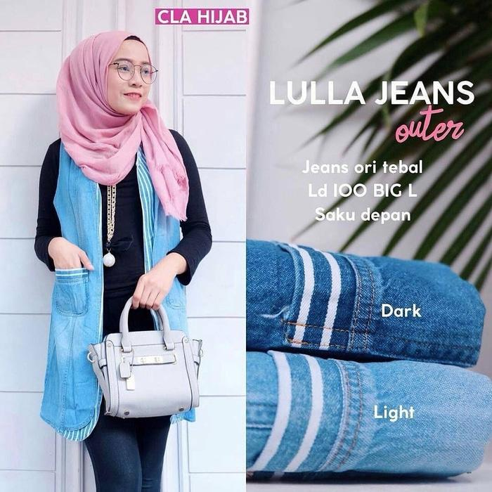 Cardigan Lulla Jeans Outer Muslim Hits Branded Gaul