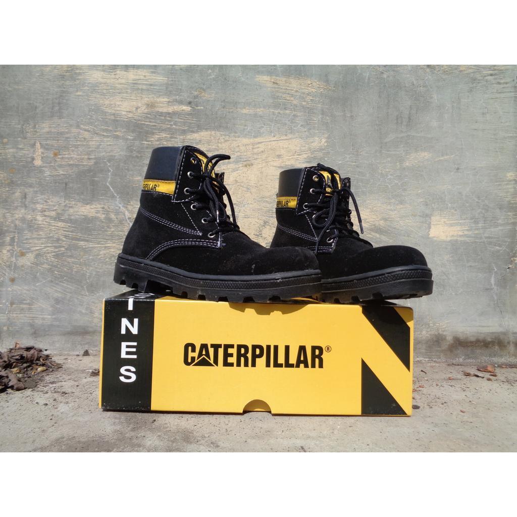 Kelebihan Sepatu Pria Caterpillar Safety Boots Bahan Suede Terkini Low 3