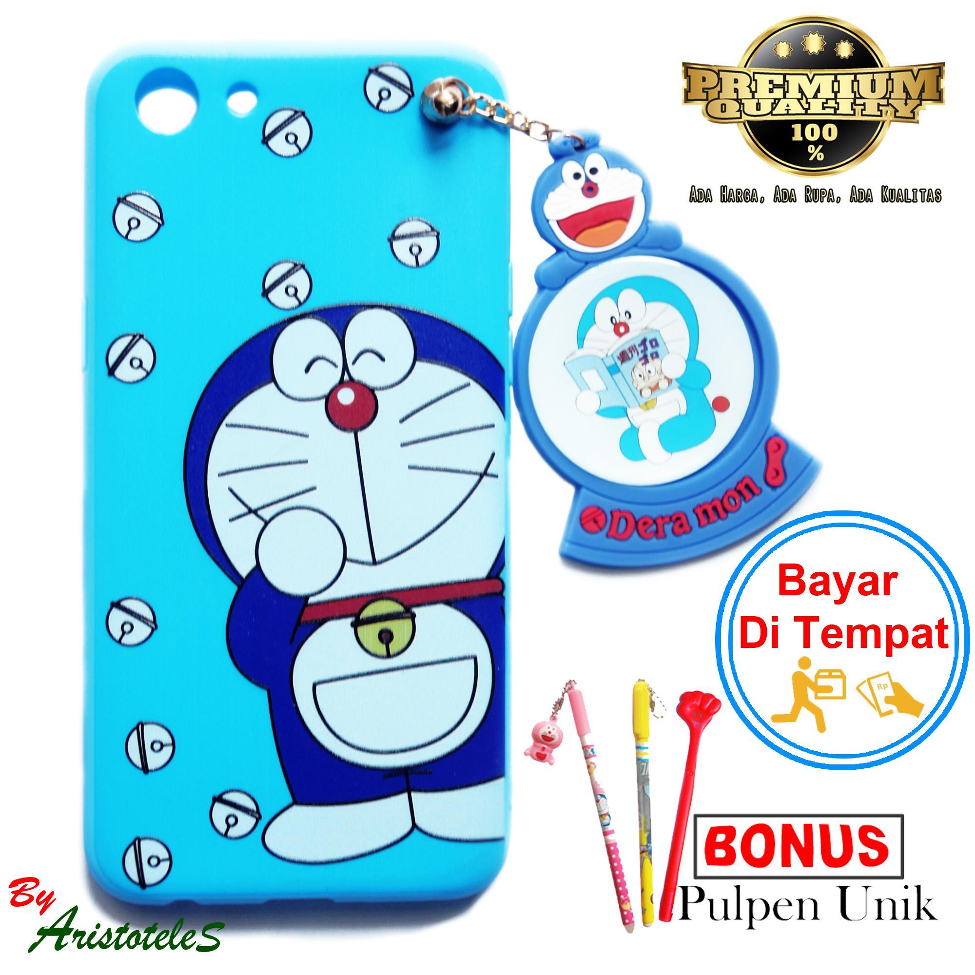 Detail Gambar Soft Case Karakter Doraemon + Gantungan Fro Oppo A83 Free Pulpen Unik Terbaru