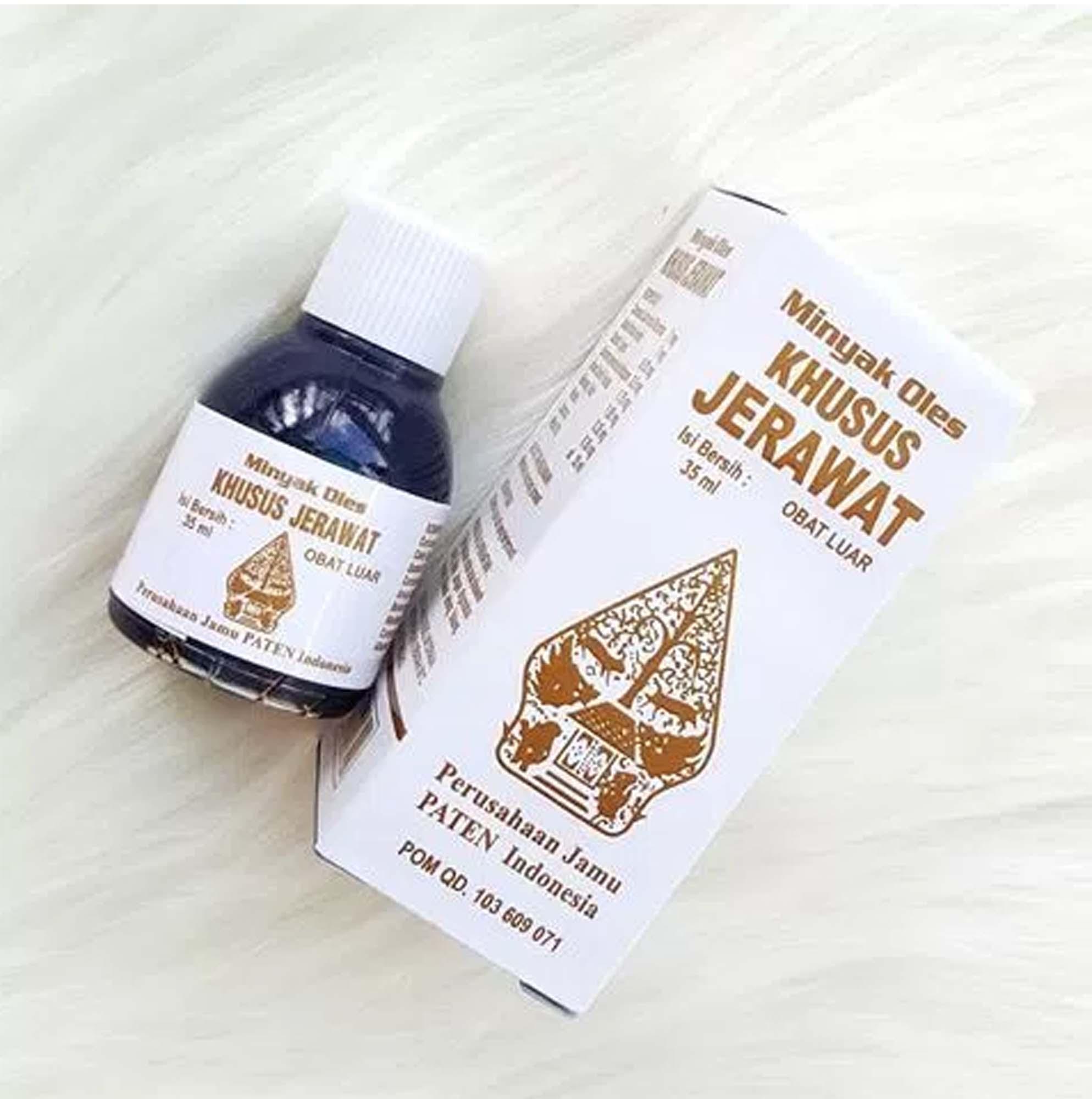 Minyak Oles Herbal Obat Jerawat Cap Wayang 35 mL