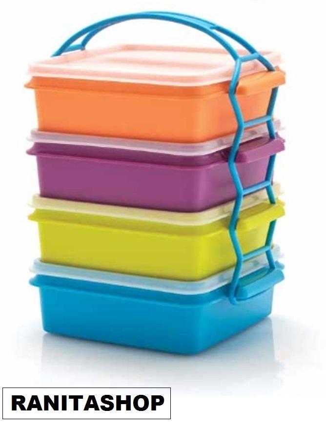 Tupperware Carry All Set - Rantang 4 susun  warna warni