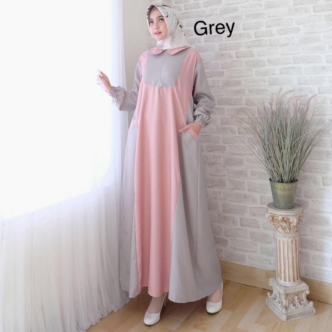 Alasxyashop Baju Gamis Muslim Jess / Dress Muslimah / Hijab Muslim / Gamis Syari'I / Baju Gamis / Fashion Muslim / Setelan Muslim / Hijab Wanita / Baju Muslim / Maxi Gamis / Fashion Muslim