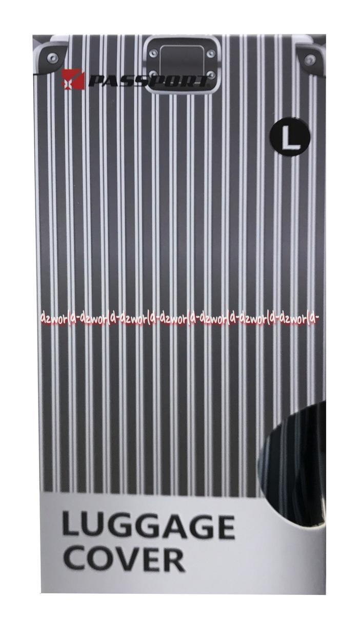 Passport Luggage Cover Sarung Koper Motif Salur Size L Uk 26-30 Inch