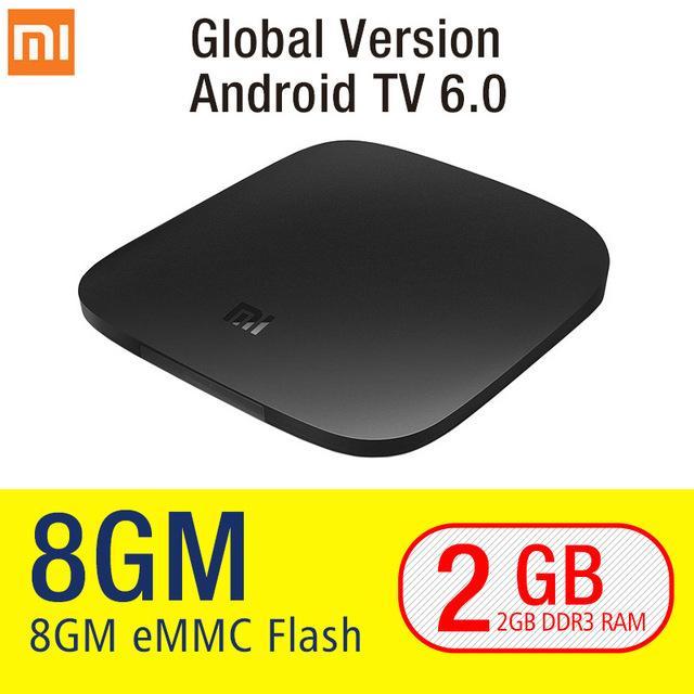 [Global Version]]XiaoMi Mi tv box 3 Wifi Bluetooth 64bit 2GB DDR3 Android 6.0 Smart 4K HD TvBox