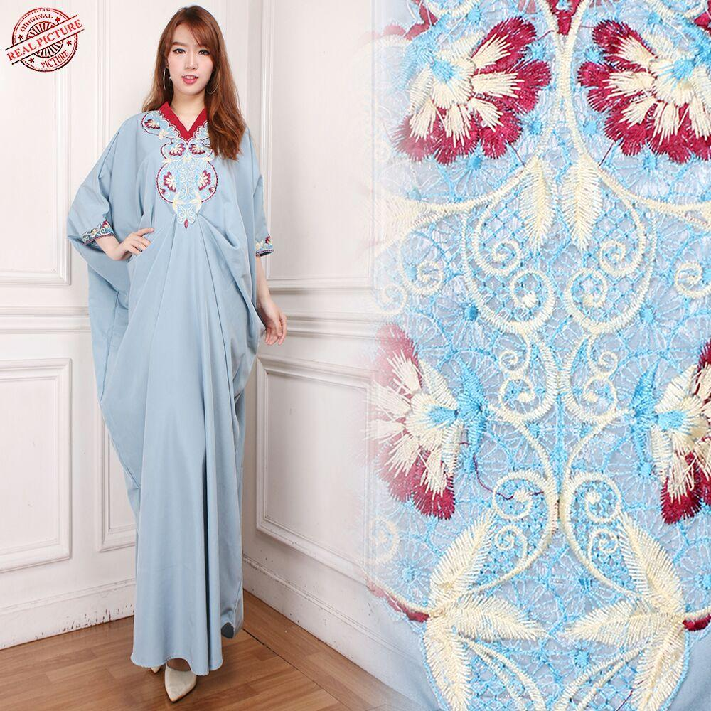 TJ Collection Dress Maxi Aida Longdress Kaftan Gamis Jumbo Batik Wanita