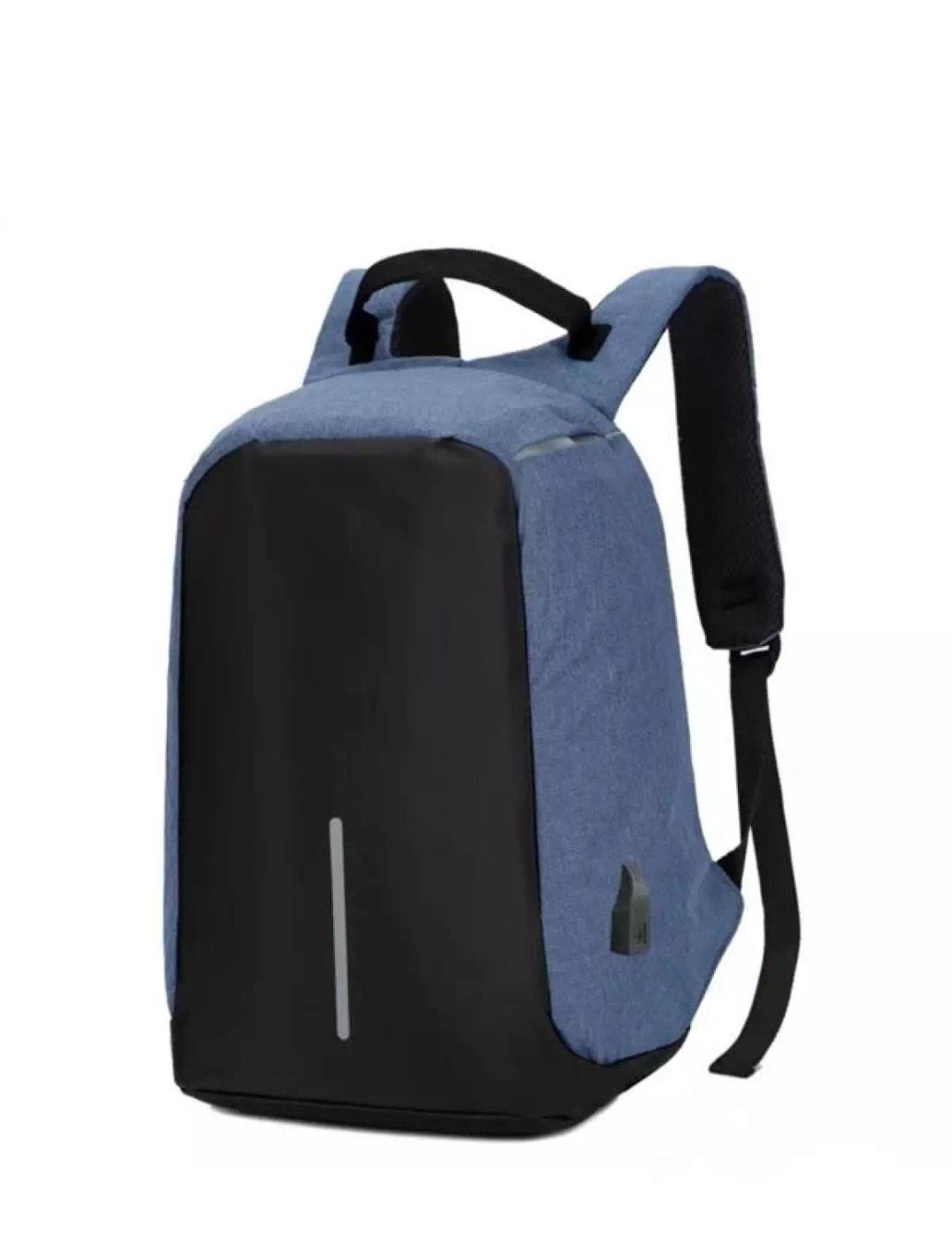 Tas Ransel Laptop Polo Anti maling USB port charger