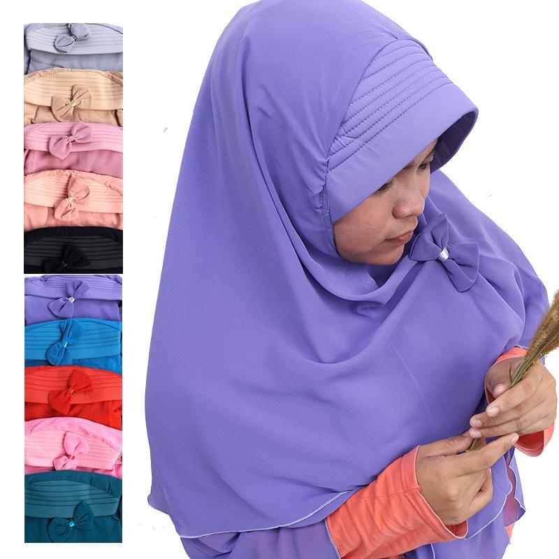 Delice Hijab Kepala Kerudung Nadine Jilbab Instan Syari Khimar Polos Dengan Pet Free Bros Pita 2 Layer Instant Langsung Pakai Women Fashion Wanita Muslim Muslimah Bahan Sifon Chiffon Pengajian Sehari-hari Penutup Pelindung Kepala Simple Adem Nyaman