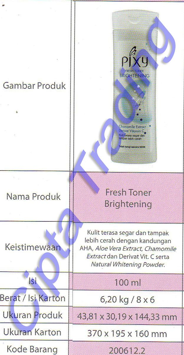 ORIGINAL - Cleansing - Pixy - Fresh Toner Brightening 100g (dozen)
