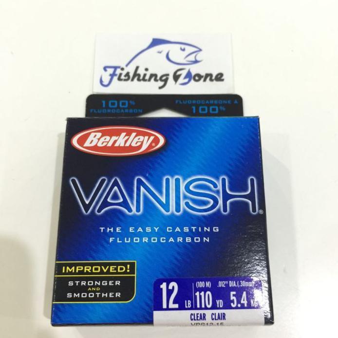 HOT BERKLEY VANISH 100% FLUOROCARBON 110YD (VPS12-15) - 12LB/5.4KG FREE ONGKIR