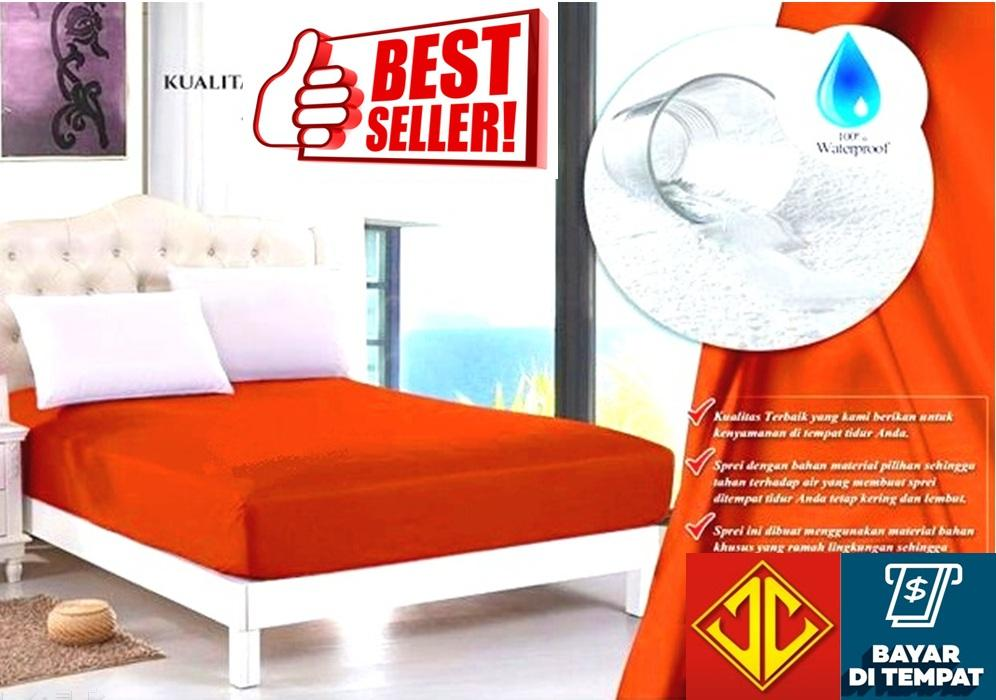 sprei waterproof anti air jaxine (sprei only)-ORANGE