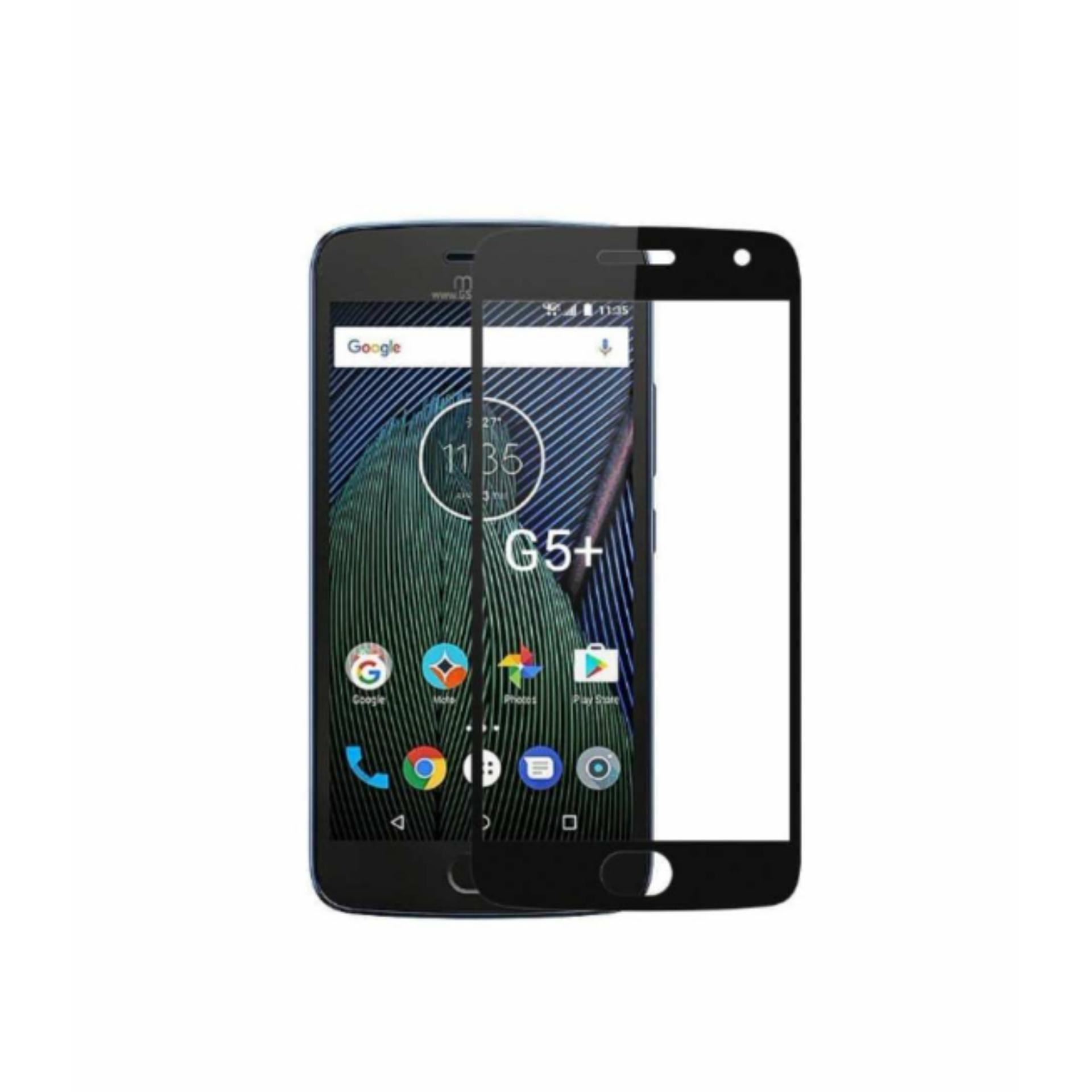 Tempered Glass 9Star For Motorola Moto G5 Plus 2.5D Full Screen List Hitam