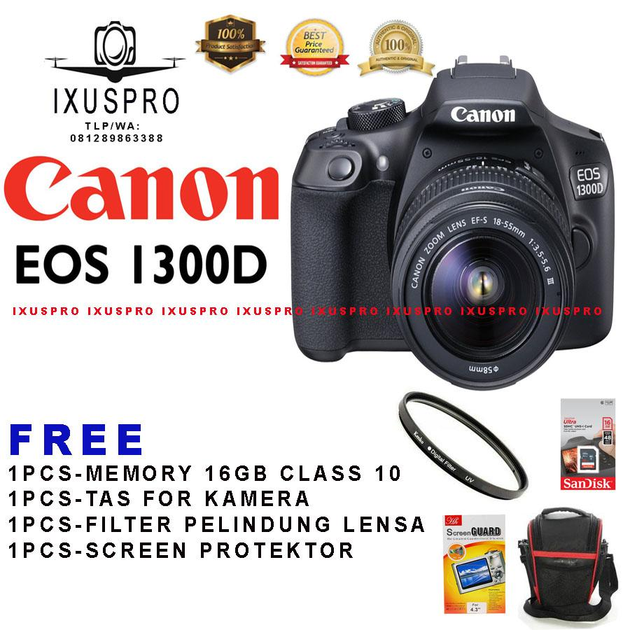 CANON EOS 1300D LENSA 1855MM  CAMERA DSLR CANON EOS 1300D KIT 1855