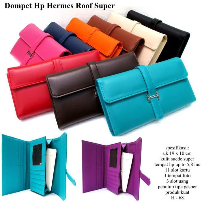 PROMO!!! dompet hpo hermes wanita kulit soft casual roof varian warna - 4ZgSa4