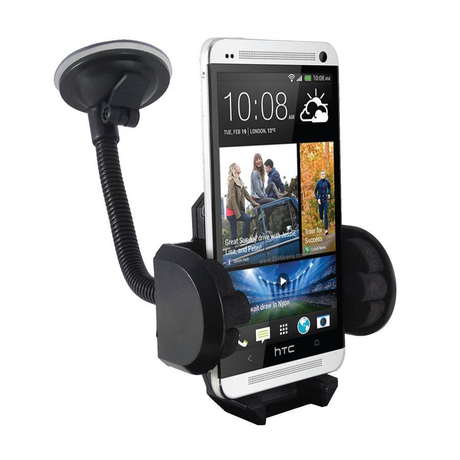 Phone Holder Mobile Capdase Car Mount - Holder Untuk HP / GPS di Kaca Mobil – Hitam