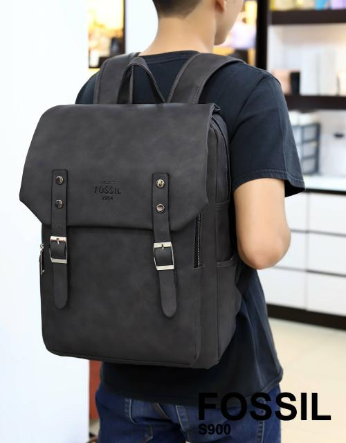TAS WANITA BRANDED IMPORT BACKPACK LAPTOP KULIT FOSSIL S900 MURAH