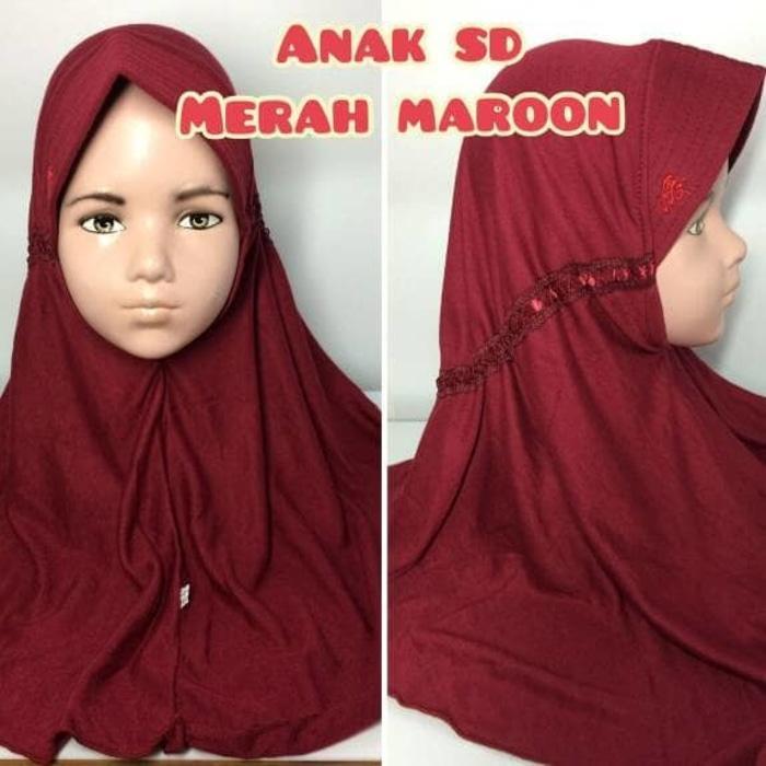 jilbab hijab kerudung syiria pet rabbani serut tali belakang anak sd