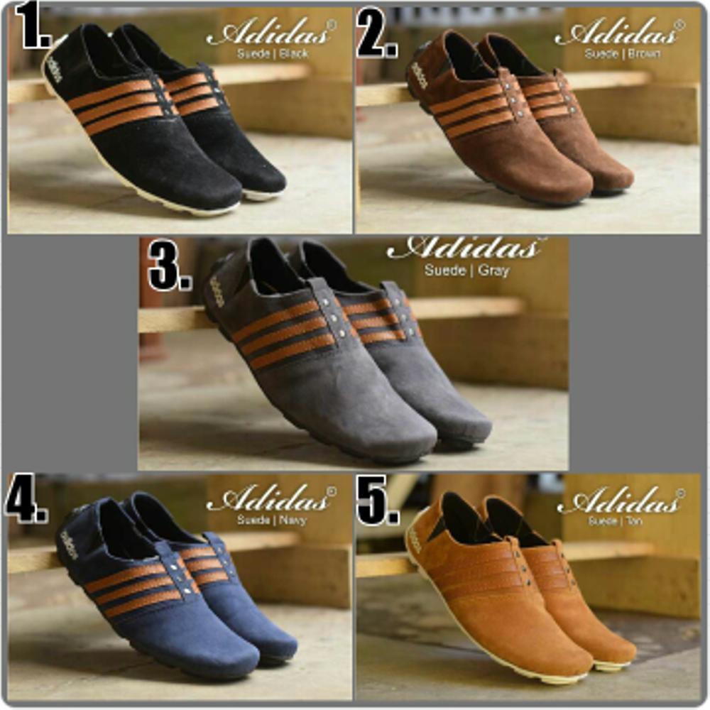 Promo Sepatu casual slop adidas kulit suede premium (5 model pilihan warna) Fashion