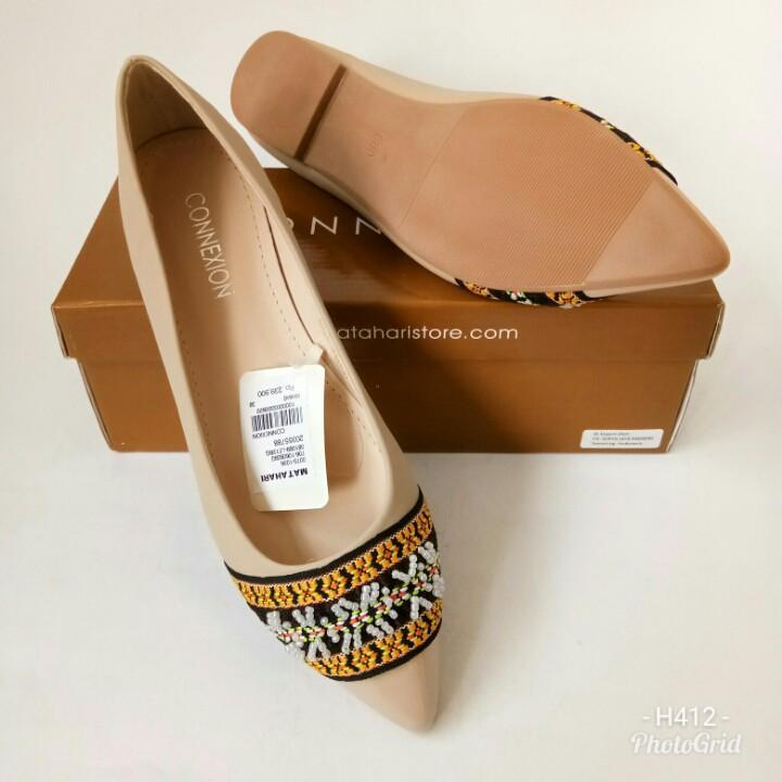 Sepatu Flat Connexion LE12BG704 sepatu loafers sepatu wanita sepatu slipon sepatu branded sepatu