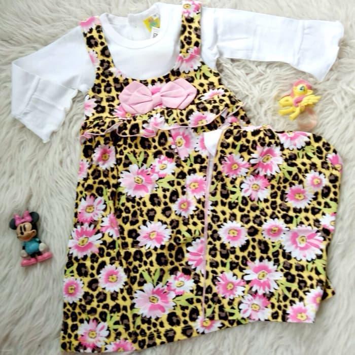 Gamis Baju Muslim Bayi Anak - Gamis Bayi Anak Flower Leopard