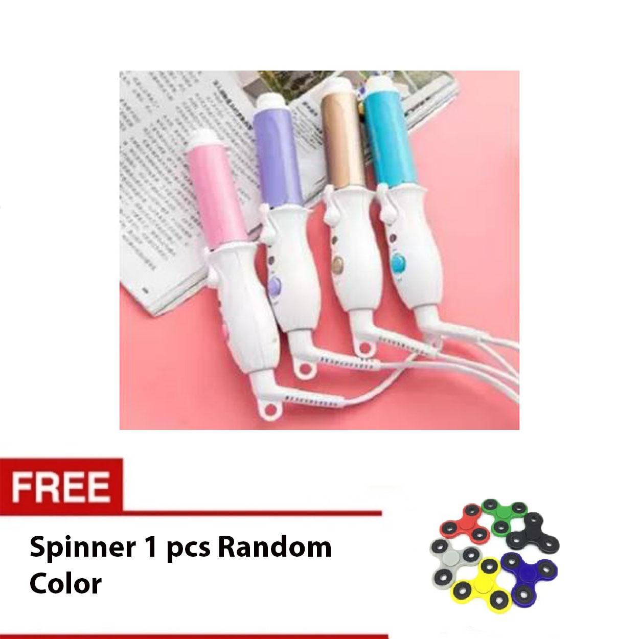 Aiueo Catok Mini Hair Curler Travel Mini Curler Chaozan Model XD-168 Random Color Bundling Spinner Biasa 1 Pcs Random Color