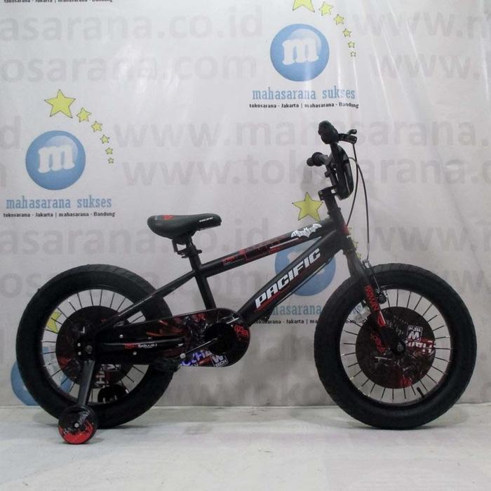 BEST SELLER!!! 16in Pacific Batman BMX Lisensi Sepeda Anak Laki-laki Usia 4 - 7 Tahun - rCShH1