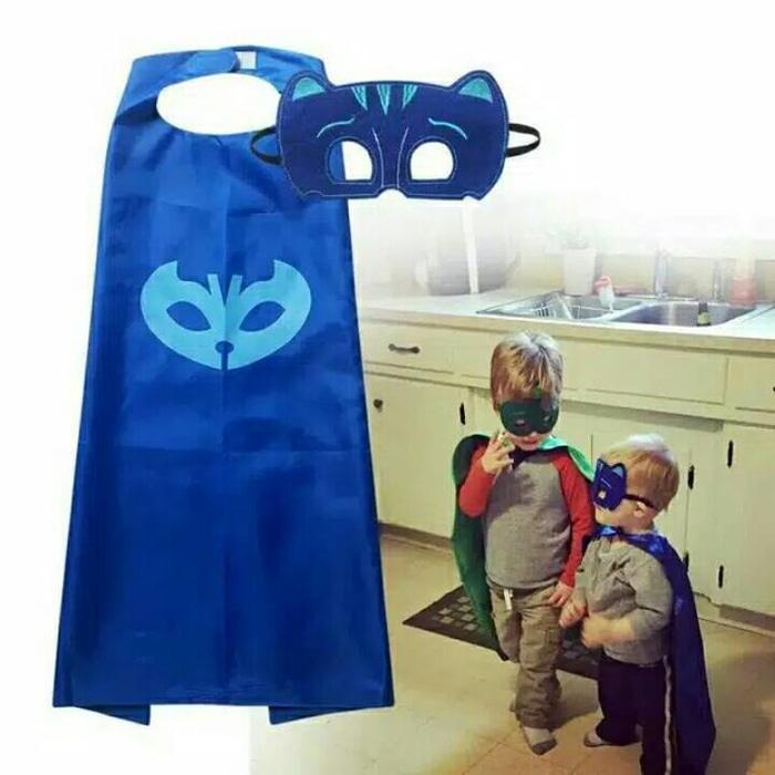 PJ Mask jubah & topeng catboy, owlette, gekko - 9HpzmC
