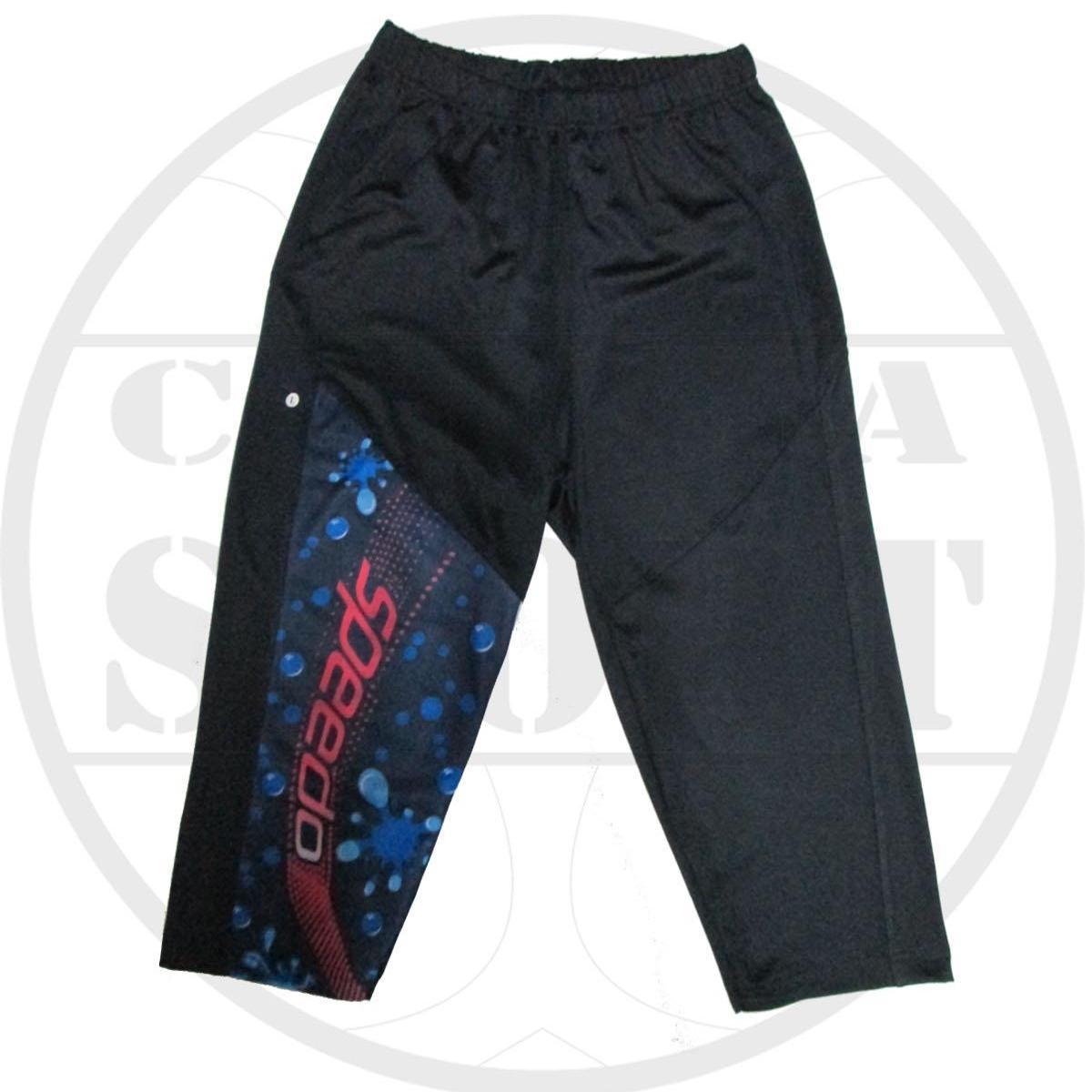celana renang speedo model motif 3/4 - hitam