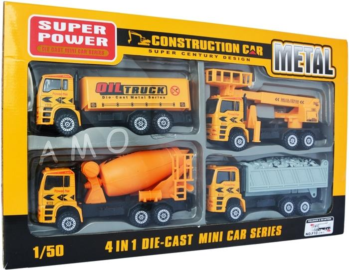 PALING DICARI DIECAST CONSTRUCTION CAR 4 PCS - DIECAST SET TERLARIS