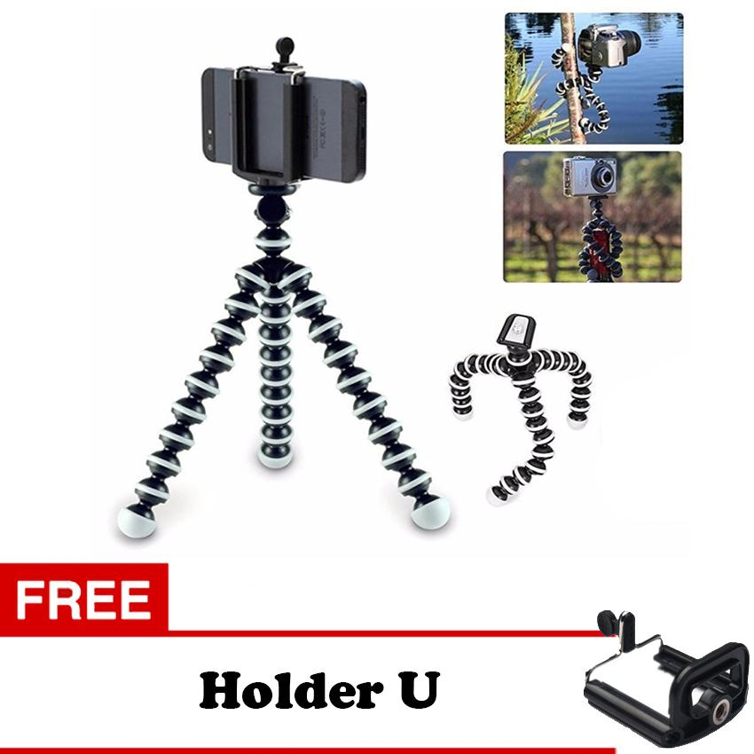 Gorilla Pod / Gorila Tripod - Tripod Lentur Fleksibel Mini Ukuran S + Free Holder U