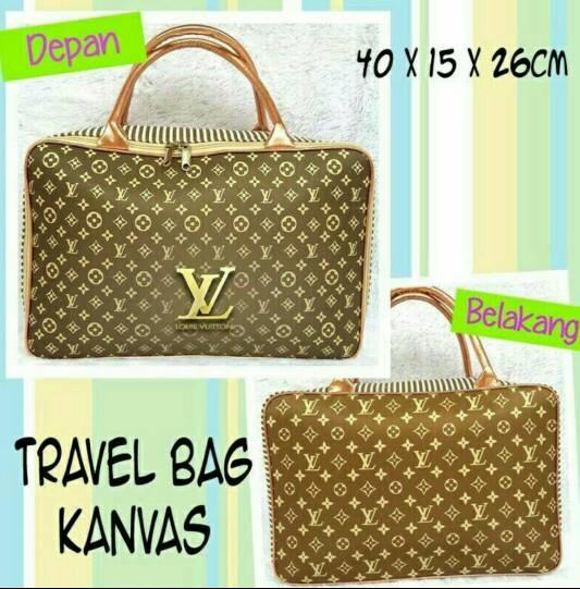 travel bag kanvas/tas baju elvi/lv/loius vitton - L87fGS