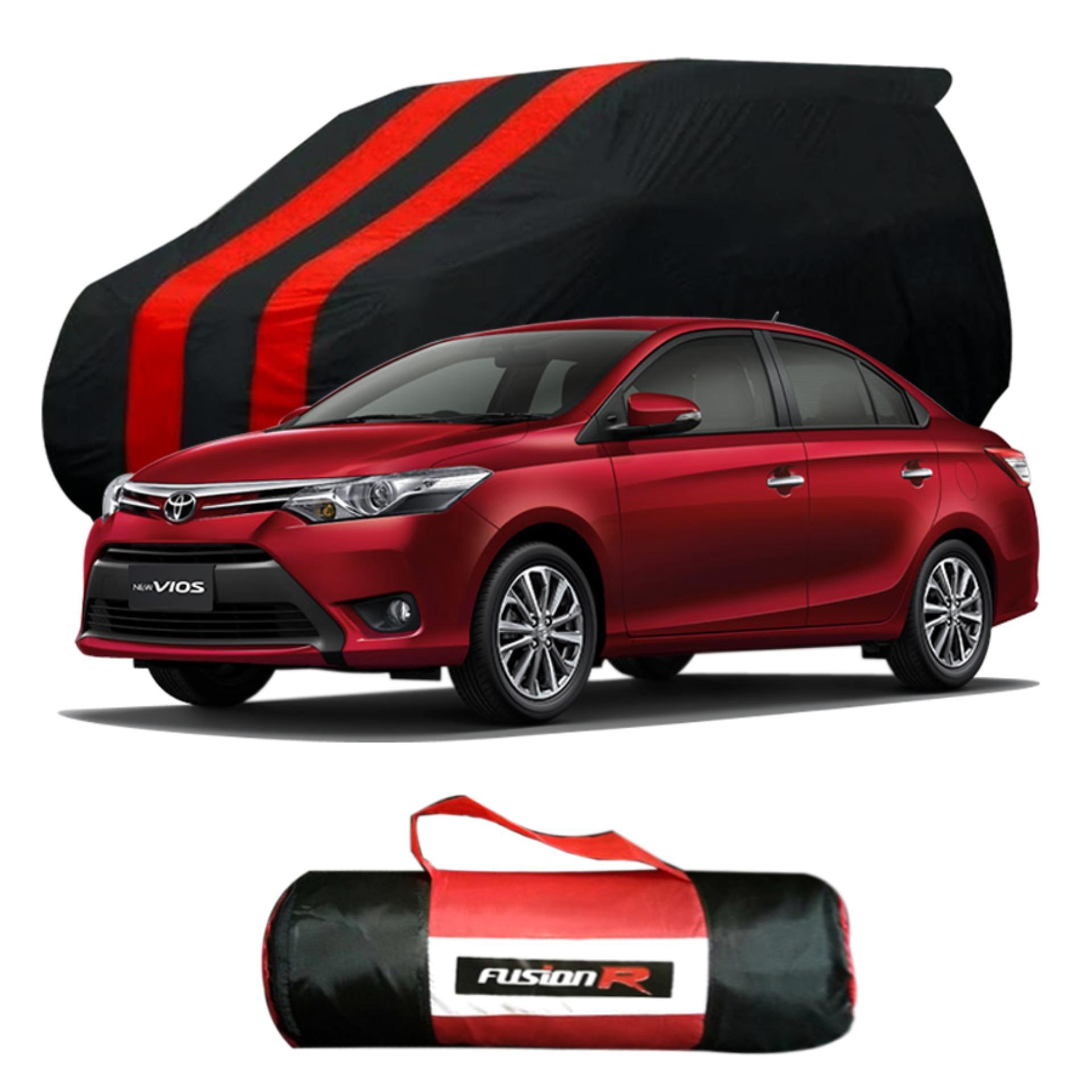 Vanguard Body Cover Penutup Mobil TOYOTA VIOS Merah Hitam Waterproof / Sarung Mobil SEDAN VIOS Premium