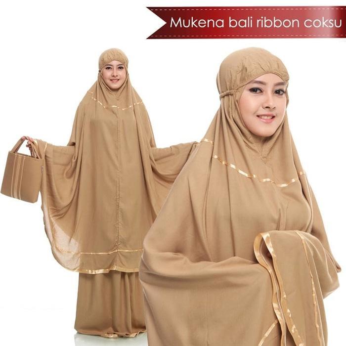Mukena Anak / Mukena Dewasa / Mukena Bali / Mukena Katun jepang / Mukena tatuis / mukena mewah / mukenah / mukena parasut / mukena wanita / mukena putih / MUKENA BALI RIBBON | MUKENA TRAVELLING PROMO