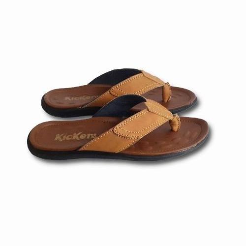 Akas 1274 - Sandal Kulit Pria - Sandal Japit Pria - Cokelat - 2