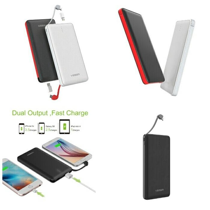 Powerbank Veger V80 20000mAh Slim Portable - Power Bank 20000 mAh