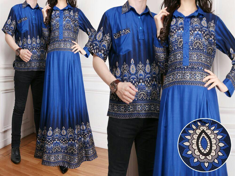 Ladies Fashion Batik Pasangan   Couple Kemeja pria Muslim   Batik Couple  Wanita Pria   Gamis ec802cb3ac