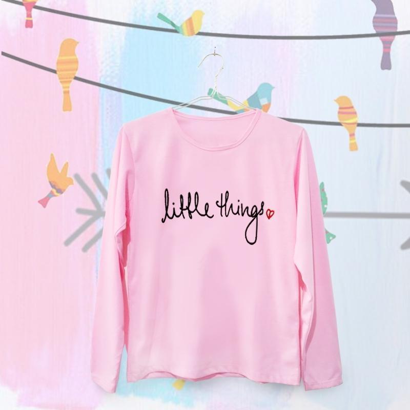 ELLIPSES.INC Tumblr  Tee / T-Shirt / Kaos Wanita Lengan Panjang Little Things - Pink