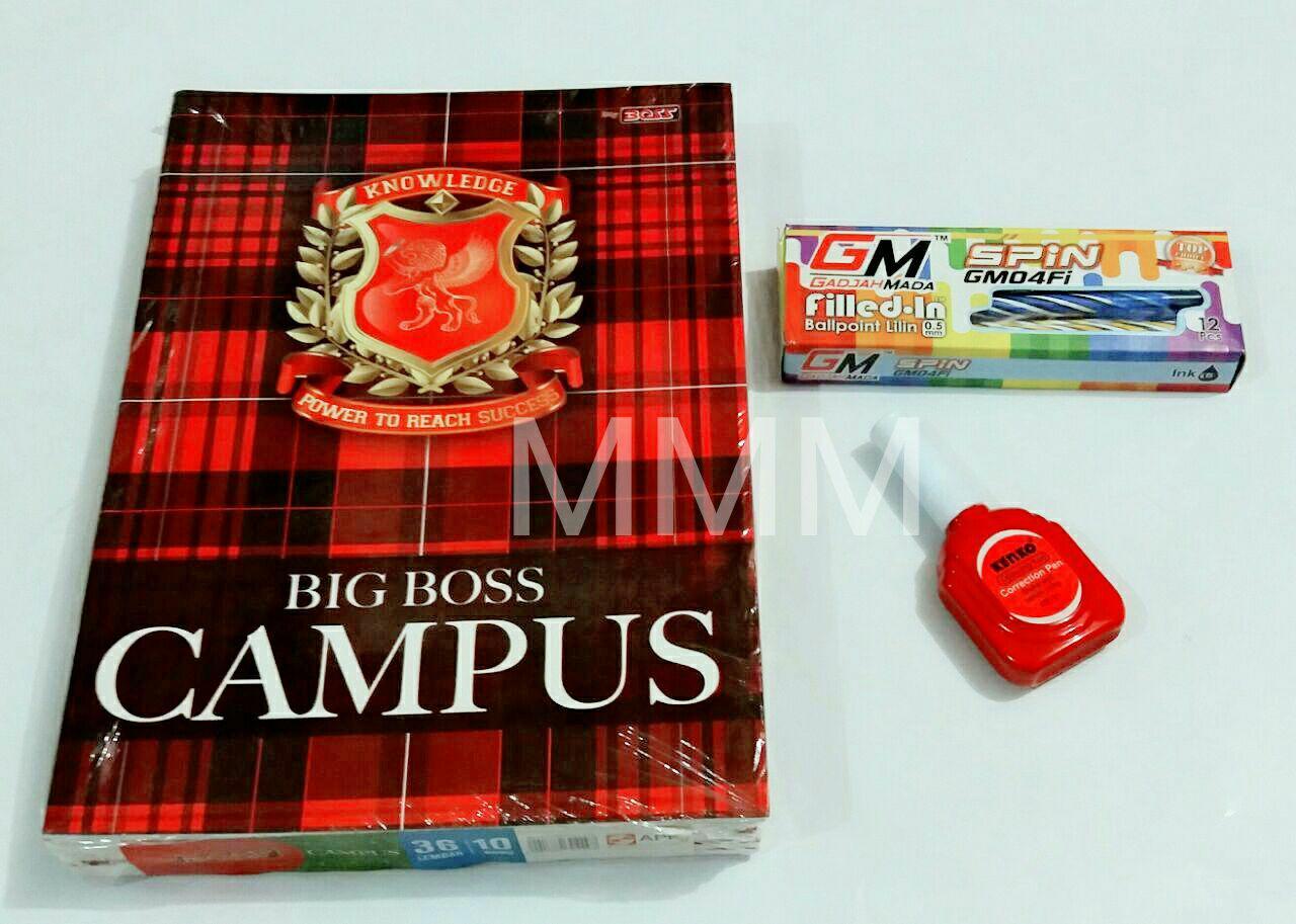 MMM-Buku tulis boxy-big boss 36 ( 1pak / 10 buku ) +