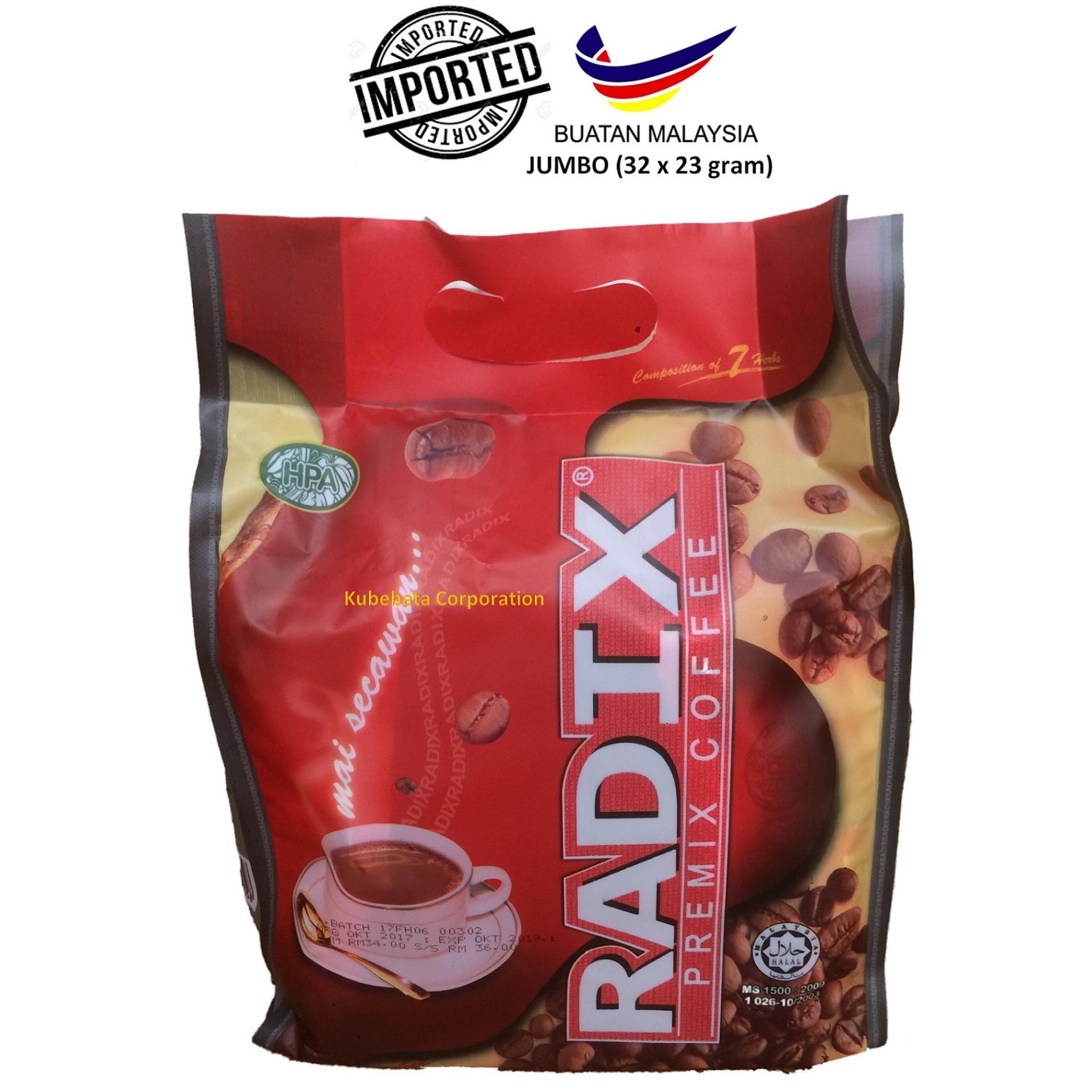 Kopi RADIX HPA IMPOR MALAYSIA (32 Sachets x 23 gram) ORIGINAL JUMBO per pouch