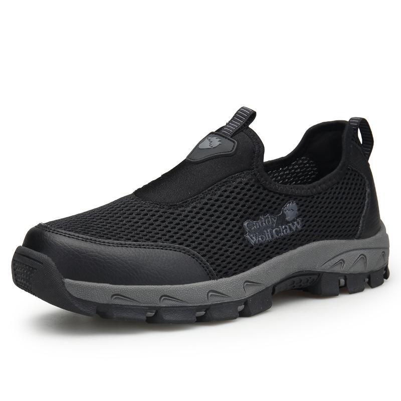 Laki-laki Musim Panas Sepatu Daki Gunung Pria Luar Ruangan Sepatu Sneakers Tergelincir Pendakian Sepatu Anti Selip Bernapas Gunung Pendakian Sepatu berburu Pantofel Plus Ukuran 46