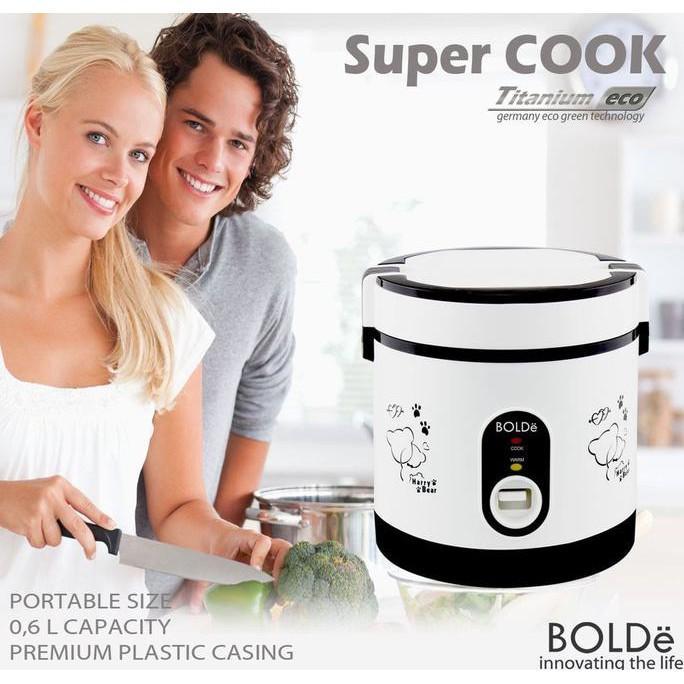 Alat Masak Super Cook Mini Bolde Paling Laris  Rice Cooker 3 In 1 ( 0-6 ) Liter Stok Terbatas !!