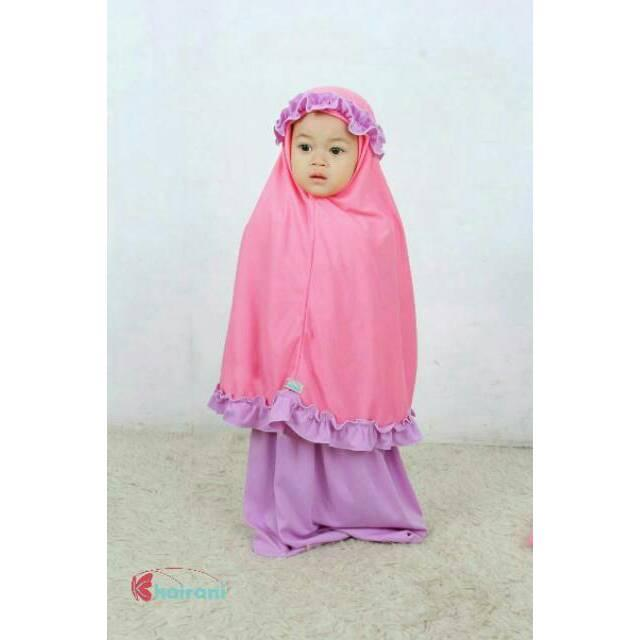 FREE NAMA mukena jilbab kerudung anak bayi ukuran s