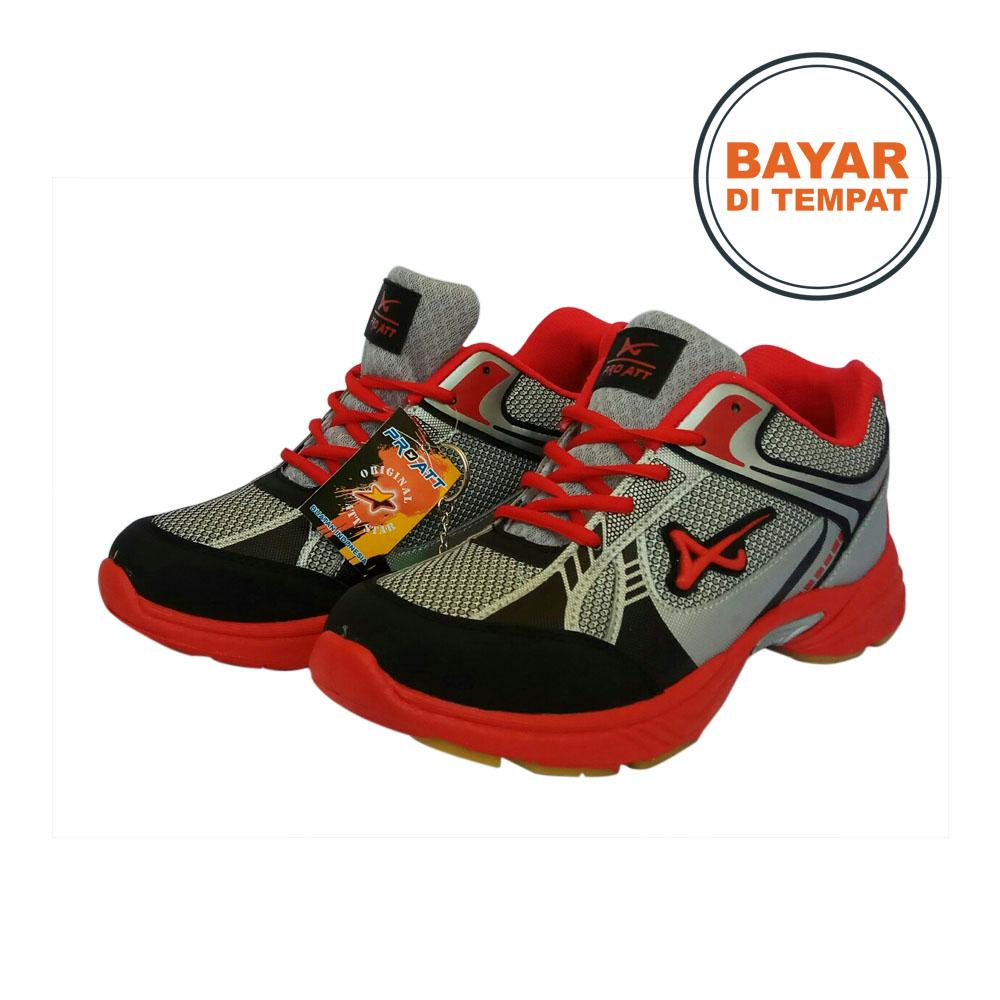 Amelia Olshop - Pro ATT Sepatu Olahraga Pria / Sepatu Pria / Sepatu Sport Pria / Sepatu Keren - MC 04 Merah Silver