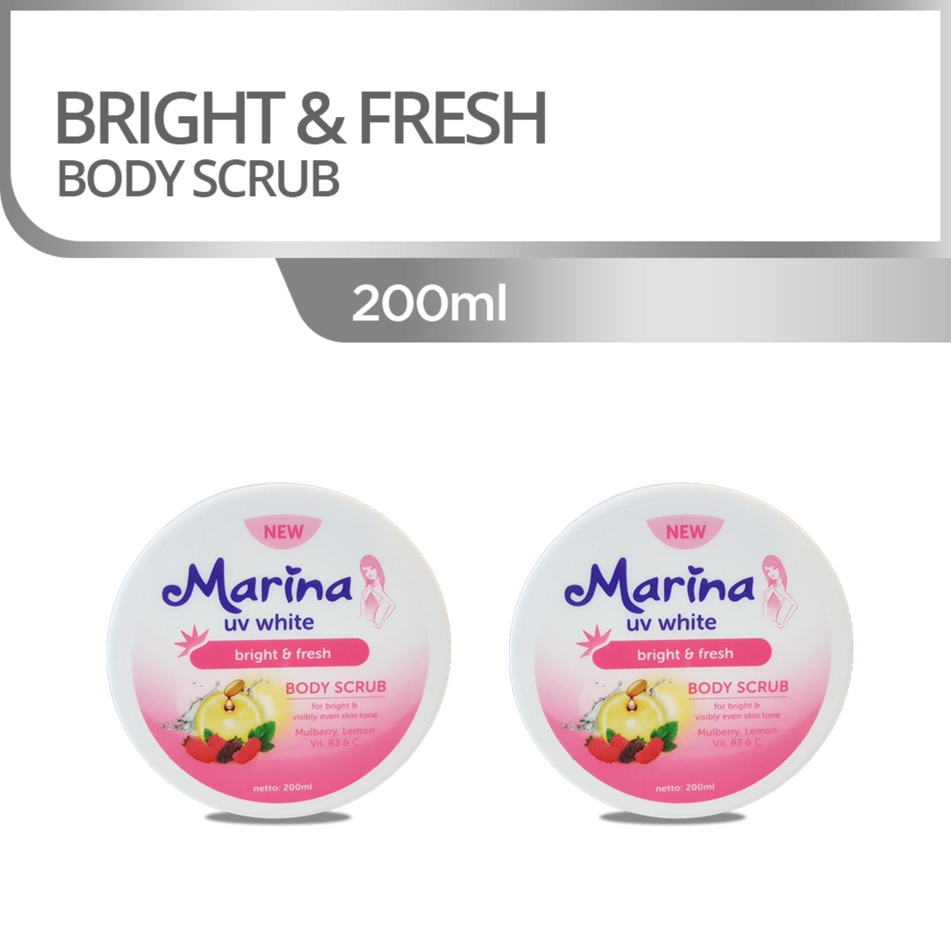 Marina UV White Bright & Fresh Body Scrub [2 pcs]
