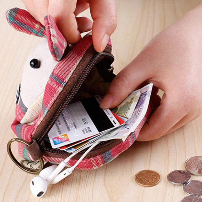 PANACHE Japanese  Style COW Coin Purse / Dompet Koin , Kunci , charger - Bp50vV