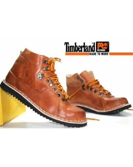 Promo Timberland Bulldog Boots Ujung Besi Sepatu Pria Tracking Touring #3 Fashion