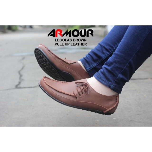 Sepatu Kulit Asli Bally Slop Santai / Sepatu Casual Pria Kerja Kantor Pesta / Slip On Murah Coklat