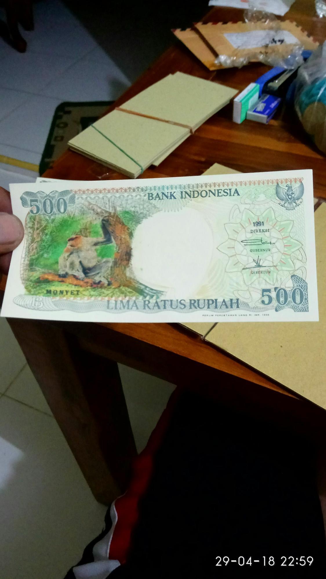 Uang Kuno UKA-UKA 500 KERA Gantung Tahun 1991 Jarang Ada Kondisi Mantap Dan Bused Masi Layak Koleksi