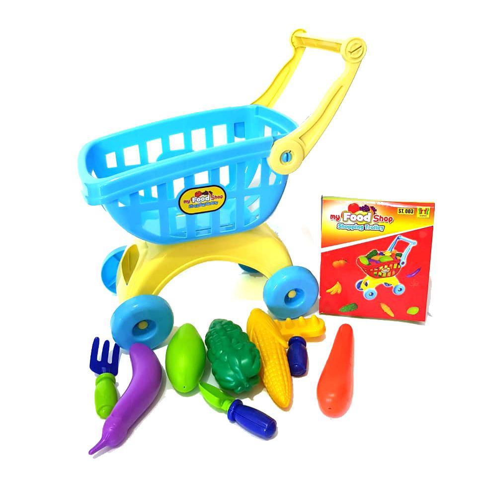 Mainan Keranjang Belanja Shopping Cart Trolly Supermarket ST003