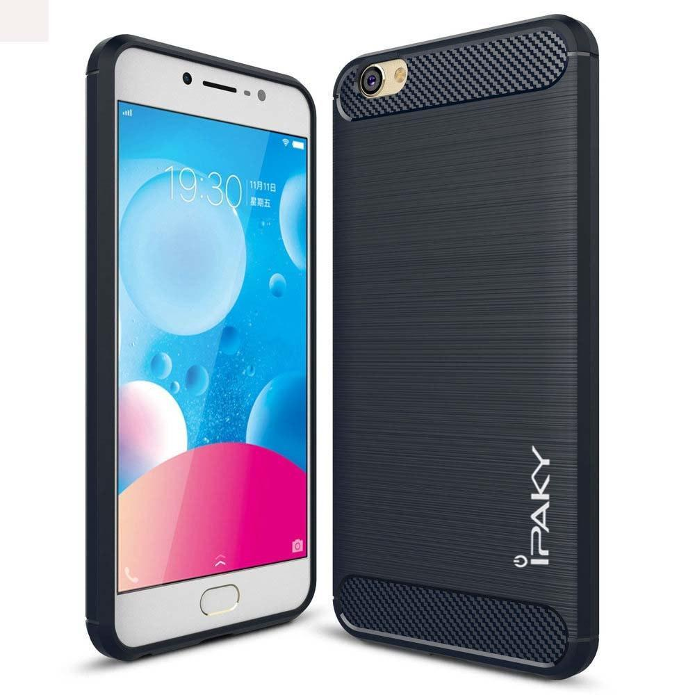 Case Ipaky Carbon Fiber VIVO Y55 Softcase Shockproof TPU